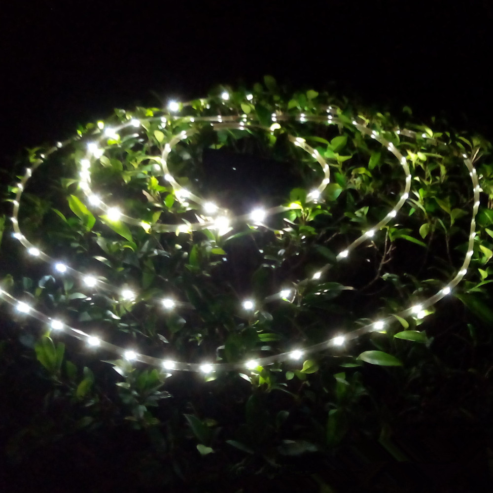 Solar powered 200leds 10M SMD3528 led strip light decorative neon lamp IP68 waterproof Holiday lighting solar  flexible lights  цены