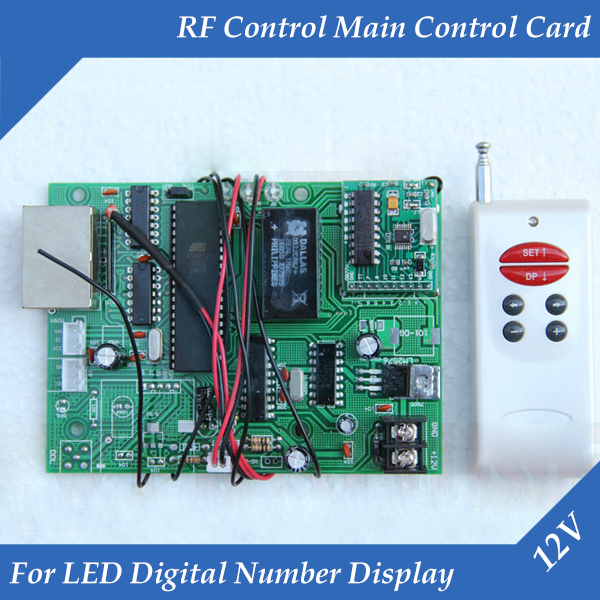 LED Digital Number RF Control Main Control Card 12V Gas/Oil Price LED Display Use For All Size LED Digital Number
