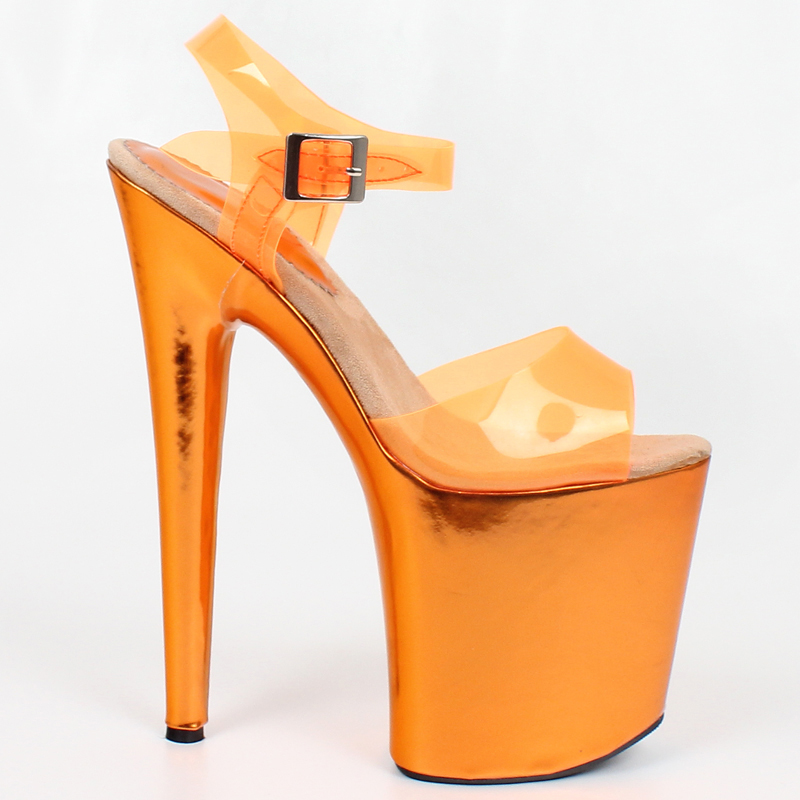 8 inch Extreme High Heel Sandals Peep-toe Platform High-heeled Shoes Sexy Clubwear Dance Boots For women