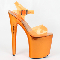 8 inch Extreme High Heel Sandals Peep toe Platform High heeled Shoes Sexy Clubwear Dance Boots For women