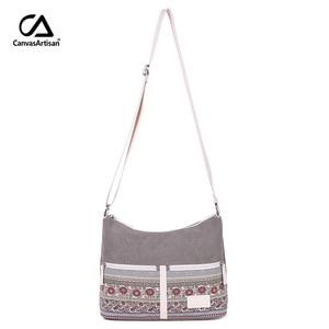 Image 2 - Womens Shoulder Bag Canvas Retro Style Floral Female Bolsos Mujer Daily Travel Messenger Bag Women Crossbody Bags Ladies Bolsas