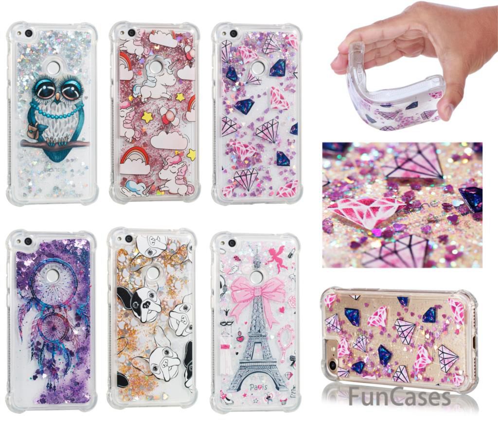 Tower Dynamic Case sFor Carcasa Huawei P8 Lite 2017 Soft Silicone Phone Case Accessory