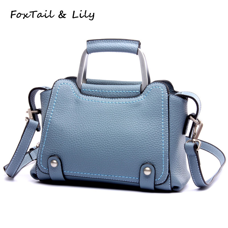 FoxTail & Lily Luxury Handbags Women Bags Designer Crossbody Bags Genuine Leather Small Tote Shoulder Messenger Bag High Quality feral cat women small shell bag pvc zipper single shoulder bag luxury quality ladies hand bags girls designer crossbody bag tas