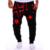 2016 3d impreso estrellas imprimir pantalones casual pantalones harem niño sudor de los hombres holgados pantalones pantalones tiro caído los hombres de hip pop