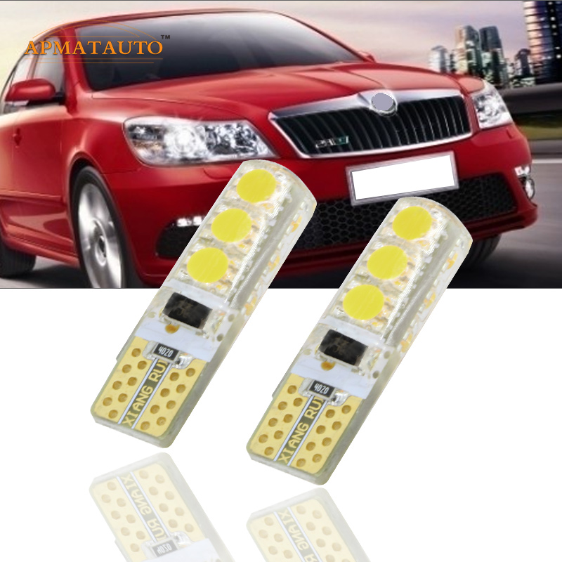 2 x Car Styling Canbus Без грешка T10 W5W 12V LED Clearance Light Marker Light Lamp Source Lamp for Skoda Octavia Superb Fabia