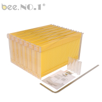 BEE.NO.1 7pcs/set Honey Flow Hive Frames Beekeeping Tool Food Grade Plastic Auto Flow Bee Hive Honey Flow Hive Australia Beehive