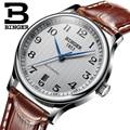 Armbanduhren BINGER geschäfts Mechanische Armbanduhren saphir voll edelstahl männer uhren Wasserdicht BG-0379
