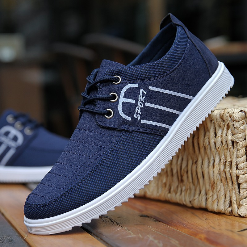 2018 Blue Casual Men Shoes Summer Moccasin Shoes Slip on Designer Male Flats Canvas Shoes Alpargatas Zapatillas Superstar 86 ...