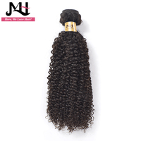 JVH Peruvian Kinky Curly Hair Extensions 100% Human Hair Weave Bundles Natural Color Remy Hair 14inch 26inch