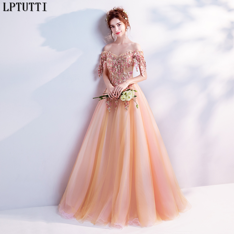 LPTUTTI Embroidery Crystal New For Women Elegant Date Ceremony Party Prom Gown Formal Gala Events Luxury Long   Evening     Dresses