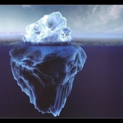 Glacier – Dark Blue Water Laminated & Framed Poster (36 x 24)
