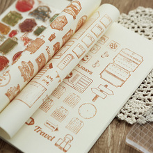 vintage travel diary building transparent silicone clear stamp for scrapbooking DIY craft decoration stamp kids stationery
