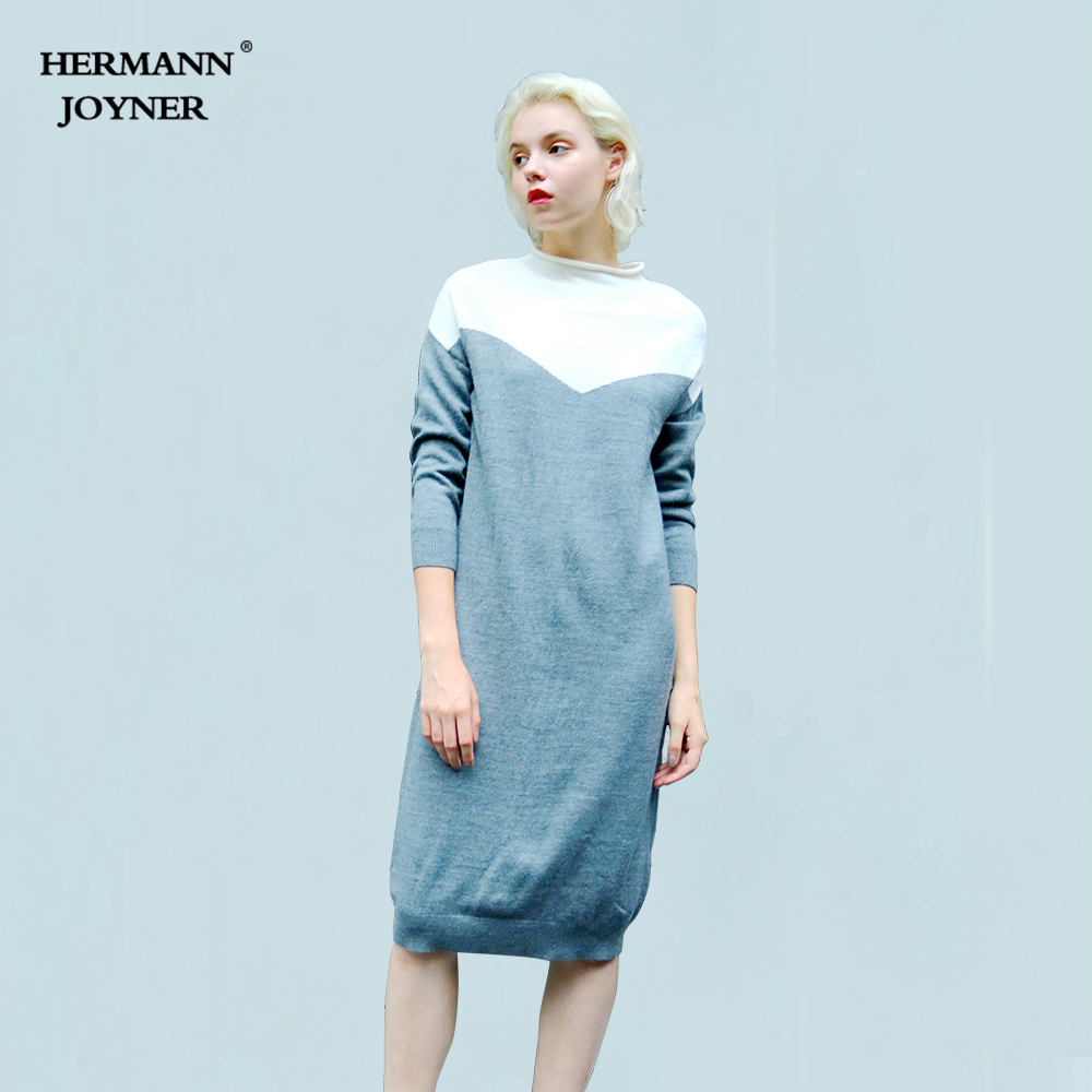 Hermann Joyner Spring Autumn Strong Girls Informal Sweater Cashmere Wool And Acrylic Knitting Slim Lengthy Feminine Pullovers Heat Comfortable