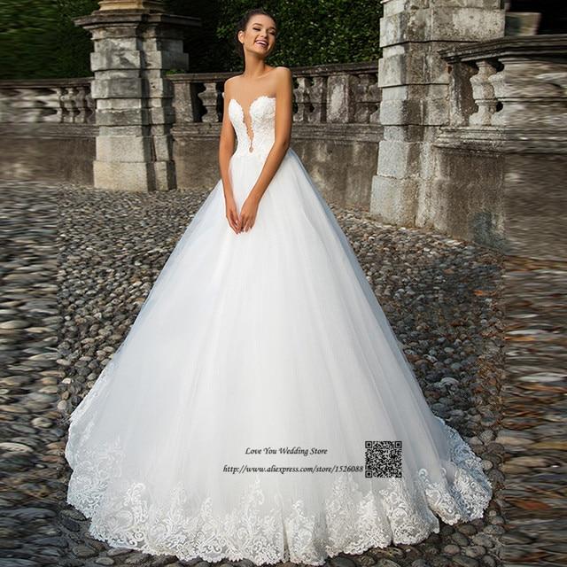 Trouwjurk Robe de Mariage 2017 Prinses Trouwjurken Plus Size Turkije  Bruidsjurken Corset Terug Kant China Bruid 7769aa6c0efd