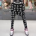 #1913 calças hip hop solta fina harajuku menino london mulheres harem pants corredores calças capris mulheres calças
