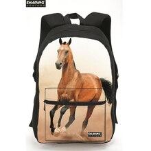 Cute 3D Animal Children backpack Horse Printing Laptop Shoulder Bag Kids Schoobag Women Mens Travel Bags