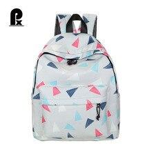 Для женщин рюкзак Геометрия Сумки Повседневное студент женский Рюкзаки печати холст отдыха корейские женские Школьные сумки для подростков Обувь для девочек
