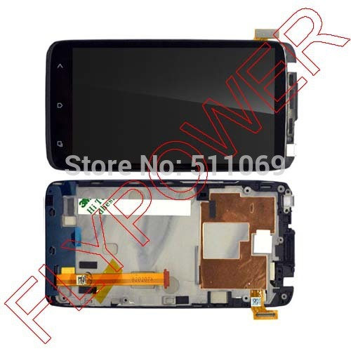 For HTC One XL LCD Display With Touch Screen Digitizer + Frame Assembly by free shipping free shipping brand new compatible lcd display digitizer touch screen assembly for htc one x s720e one xl