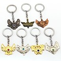 Game LOL Keychain Legends Key Chain hero League Rank Key Ring Key Holder Chaveiro Jewelry