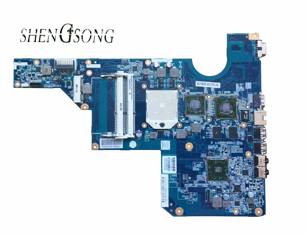 100% tested original 597673-001 motherboard CQ62 G62 laptop Notebook PC Mainboard system board working perfect free shipping 597673 001 for hp compaq g62 cq62 motherboard mainboard