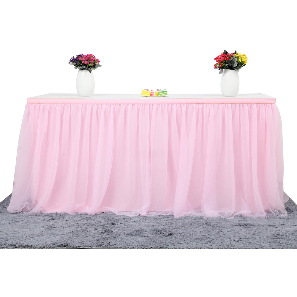 MultiColor Table Skirt Tableware Cloth Wedding Tutu Tulle Table Skirt Baby Shower Party Home Decor Table Skirting Birthday Party