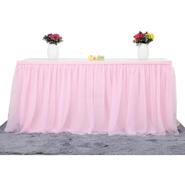6964113a3 MultiColor falda de vajilla de boda Tutu tul falda de bebé ducha partido  Decoración de casa de zócalo de fiesta de cumpleaños