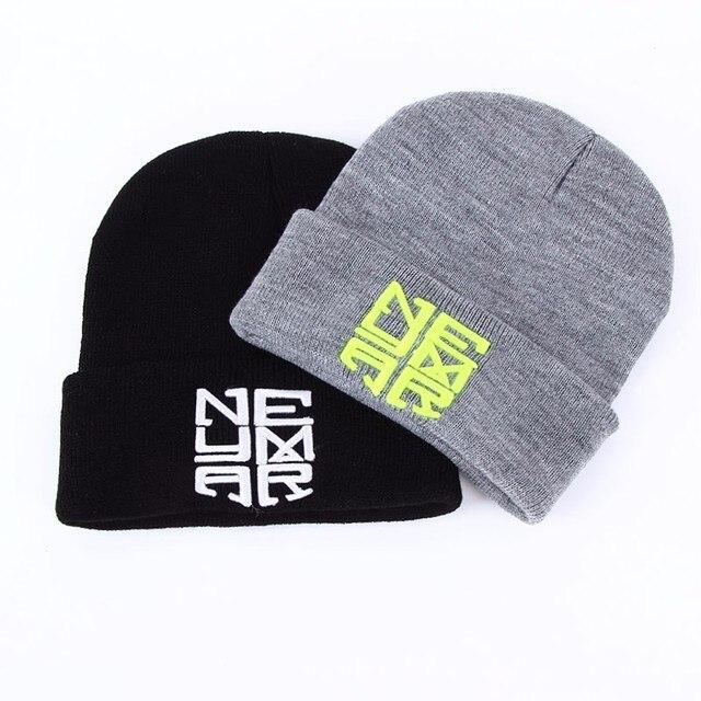 8b2dd9429c5 2017 New Winter Warm Knitted Caps Neymar NJR Style Men s Skullies bboy  winter hip hop warm hats Women s Beanies 2 color Gorros