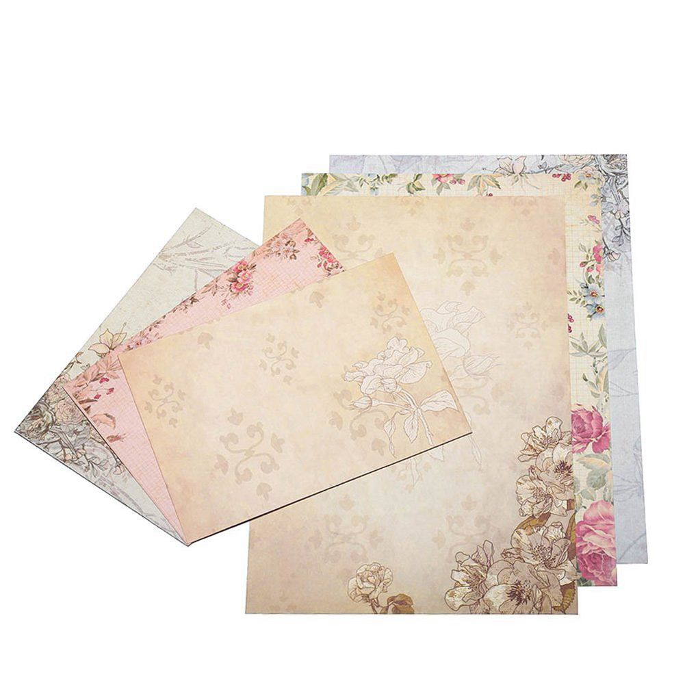 PPYY NEW -40 Sheet Vintage Stationery Sets with Envelopes for Writing Letters