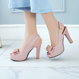 Image 3 - YMECHIC 2019 Летняя мода с бантом бабочкой с открытым носком туфли на ремешке женские белые свадебные туфли для невесты женские туфли лодочки для вечеривечерние