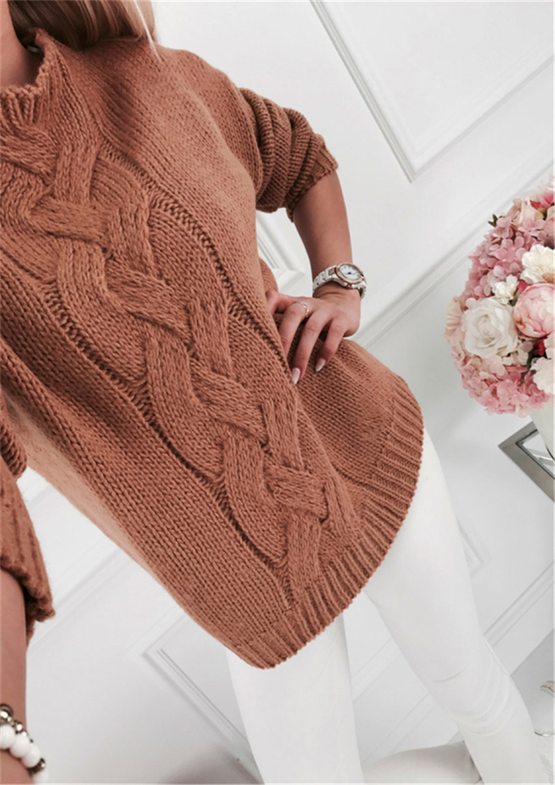 Fitshinling Twist Vintage Pullover Sweater Women Clothing 2019 Autumn Winter Jumper Pull Femme Long Sleeve Solid Sweaters Sale in Pullovers from Women 39 s Clothing