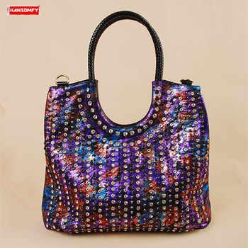 Luxury fashion diamonds encrusted Women handbags trend female genuine leather shoulder bag rhinestone messenger crossbody bags - DISCOUNT ITEM  49% OFF All Category