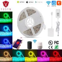 Wifi waterproof led strip Smart home 5m 12v led rgb strip light APP Remote control dimmable with Google Home Alexa Voice Control
