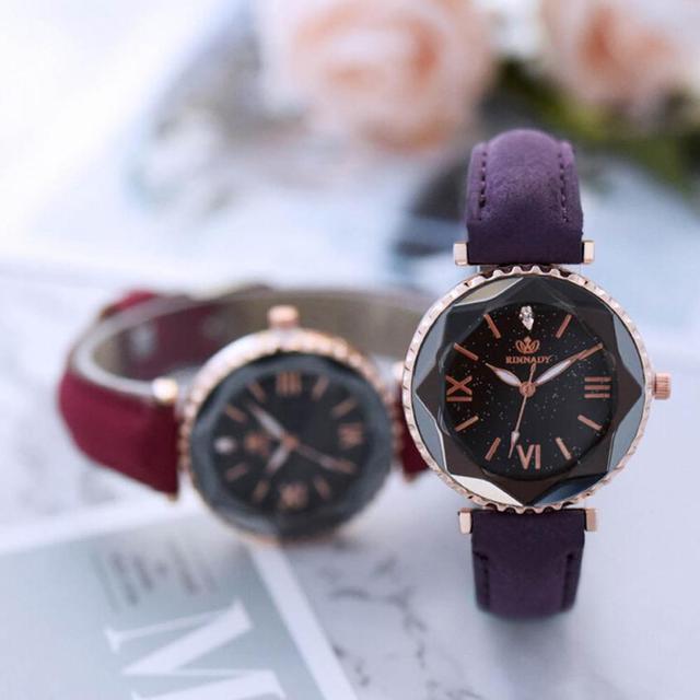 תלמיד יפה גבירותיי שעוני יד 2018 עור מזכרות יום הולדת מתנות נשים של קוורץ שעונים לשני המינים רטרו מזדמן שעון # D