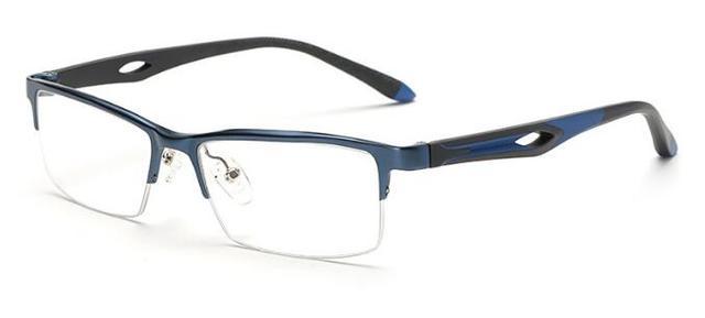 Dos homens de Negócios Em Alumínio Em Liga de Magnésio Óculos Masculinos Quadro Espetáculo Armação Dos Óculos de Prescrição Óculos de Lente Clara