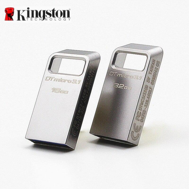 Kingston USB Flash 16 gb 32 gb 64 gb 128 gb Pen Drive USB3.0 Memory Stick Cle USB3.1 Clé Clef Clé Usb Mini USB Flash Drive 16 gb