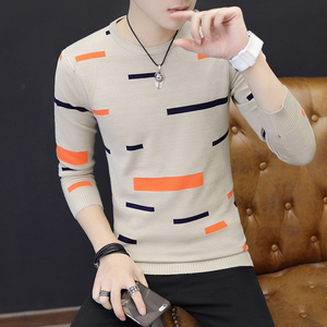 Image 5 - Autumn Winter Men Saweaters O Neck Long Sleeve Knitting Slim Fit Knittwear Mens Sweaters Pullovers Pullover Men Pull Homme
