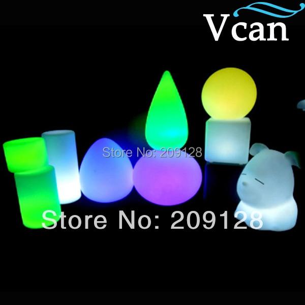 RGB Remote Control LED Garden long Light  V V-D003 remote rgb control waterproof 100% plastic led night light