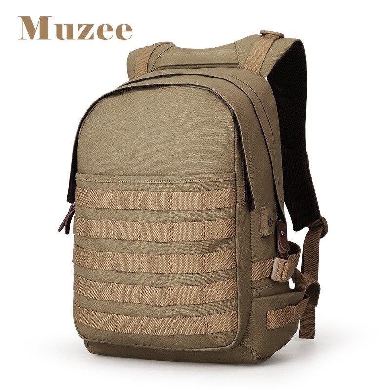 Muzee sac à dos pour ordinateur portable hommes avec USB sac à dos de charge grand sac de voyage hommes sac à dos de mode convient à 15.6 pouces