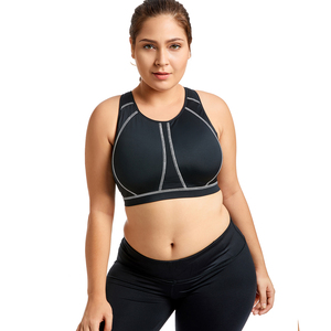 Image 3 - Womens High Impact Full Support Wire Free Molded Cup Active Plus Size Exercise Bra