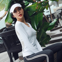 ESHINES 2019 outdoor fitness clothing sexy quick-drying tops women tights running sports breathable yoga t-shirt