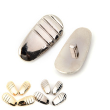 a8fd76ba0e 2 Pairs 16mm 7mm Metal nose pads eyeglasses accessories sunglasses nose pads  screw in gold
