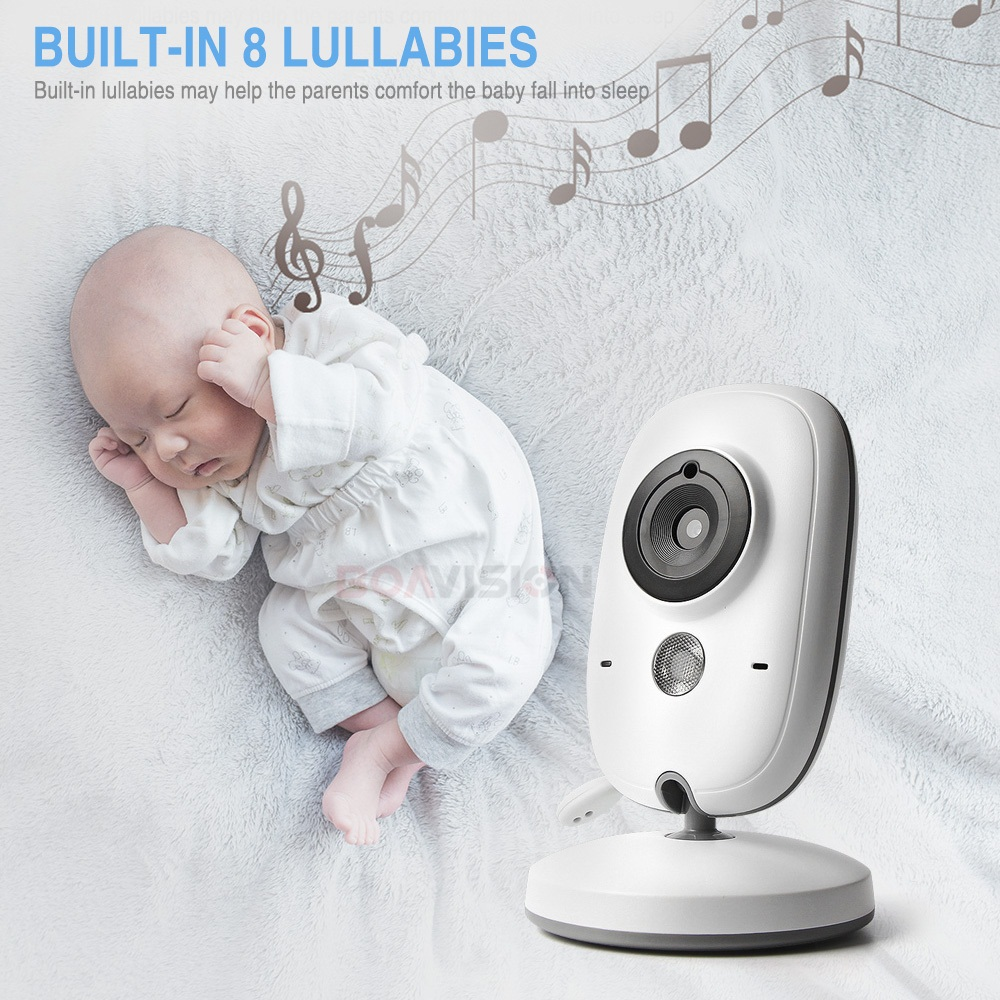 Image 4 - 3.2 Inch Color LCD Wireless Video Baby Monitor Night Vision 5m Nanny Monitor Bebek Lullabies Surveillance Security Camera VB603-in Baby Monitors from Security & Protection