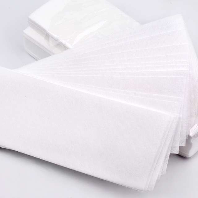 100pcs Removal Nonwoven Body Cloth Hair Remove Wax Paper Rolls High Quality Hair Removal Epilator Wax Strip Paper 4
