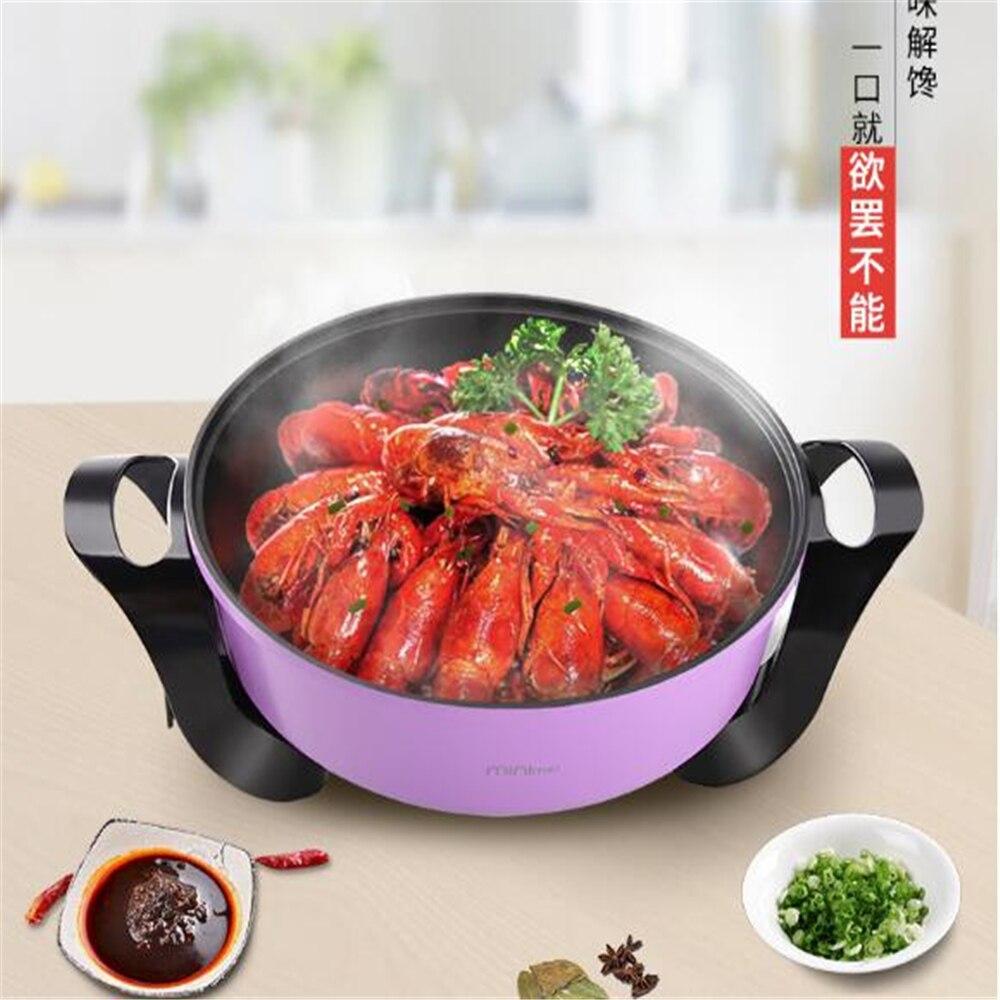 2018091203 Сян Многофункциональный антипригарным плита электрическая горячий горшок электрическая hot pot домашнего приготовления 3 цвета 109,88