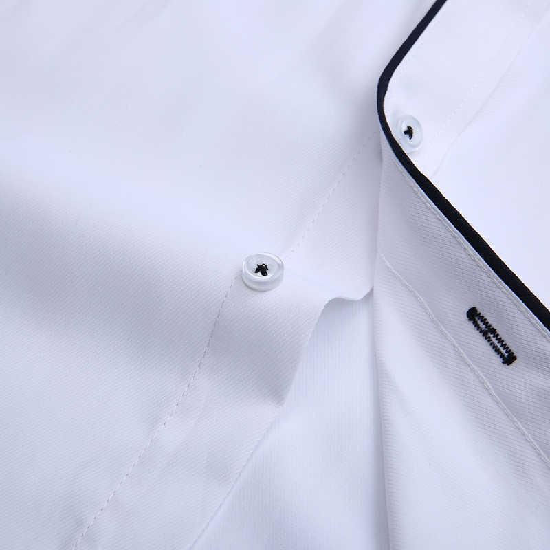 Dudalina Camisa Pria Kemeja Lengan Panjang Pria Kemeja Camisa Sosial Masculina Merek Pakaian Kasual Slim Fit Chemise Homme Tidak Ada Saku