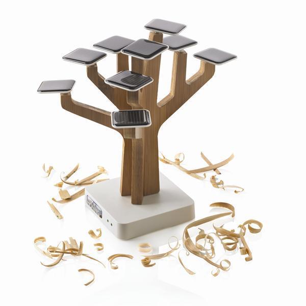 100% Оригинальный XD Solar Suntree дома/офиса украшения и зарядное устройство для MP3/GPS/Мобильного телефона, Солнечный Suntree Power bank зарядное дерево