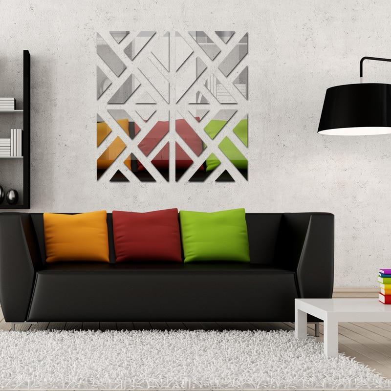 2017 nuovi adesivi murali grande 3d arredamento moderno acrilico vivere la casa grande specchio superficie del modello fai da te reale autoadesivo della parete