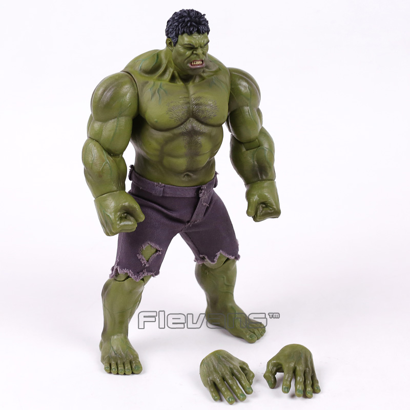 Marvel The Avengers Hulk Super Hero PVC Action Figure Collectible Model Toy 25cm hulk xh002 super hero single sale bruce banner red she hulk marvel s the avengers building blocks sets model figure toys