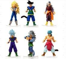 New 6pcs/lot Dragon Ball DBZ Anime Goku Vegeta Piccolo Gohan super saiyan Joint Movable dragon ball z Kids action figures Toy