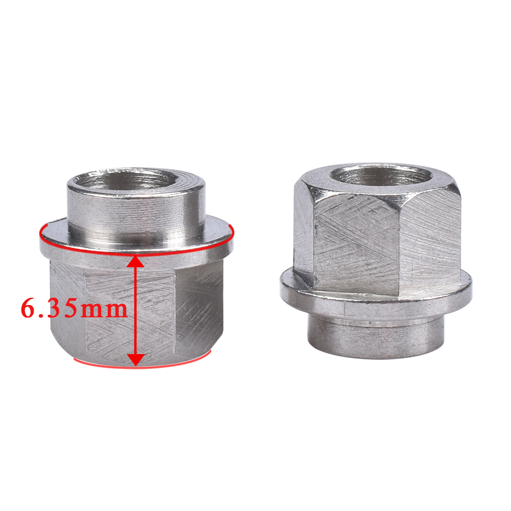 BIQU 10PCS 3D Printer Parts Openbuilds Eccentric Column / Isolation Column Hexagonal Bore 5MM 6.35MM Stainless Steel